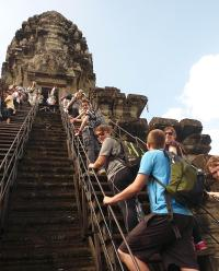Students exploring Angkor Wat -  Photo: John Nichol