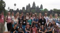 School group in front of Angkor Wat