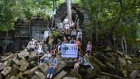 School group at Angkor Wat in Cambodia |  <i>Andrew U'Ren</i>