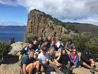 Students taking a break from their trek in Tasmania |  <i>Holly Van De Beek</i>