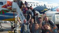 Students getting ready to fly out on a Schoolies trip |  <i>John Nichol</i>