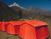 Nepal permanent eco-camps in the Everest region